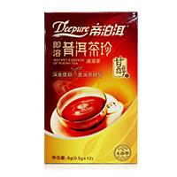 1186即溶普洱茶珍甘醇12袋商超版(2015版),甘醇,6g/盒,30盒/箱