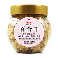 ZT0204百合干,60g/罐,甘肃中天药业有限责任公司